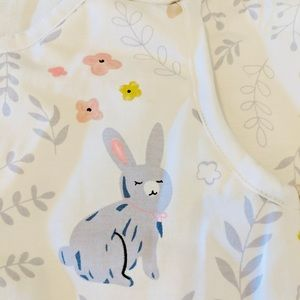 MINISTEPS Sleep Sack Yellow Rabbits New 6-12 Mons